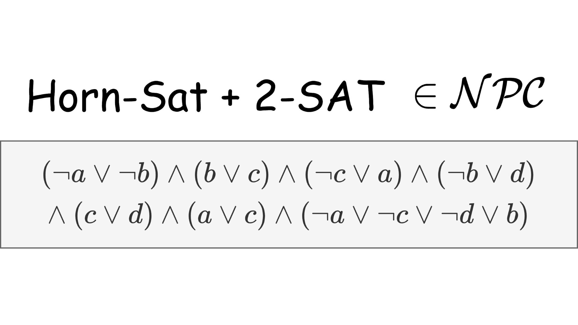 Satisfiability of formulas with both Horn and 2-SAT clauses is NP-Complete